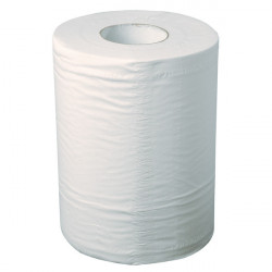 Bobine d'essuyage industriel blanche Ouate