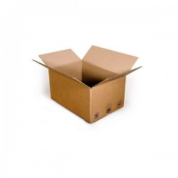 Pack de 25 Cartons Simple Cannelure Havane - Tiggre.fr