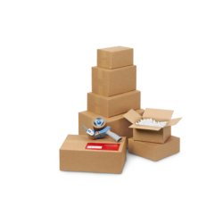 Pack de 20 Cartons Simple Cannelure Havane - Tiggre.fr